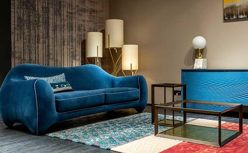zils dīvāns