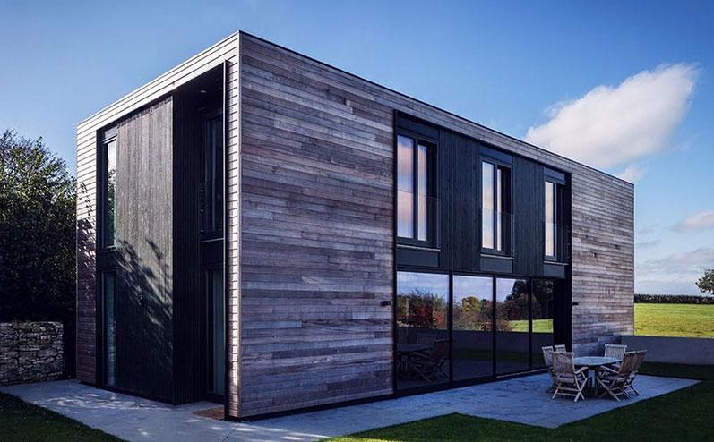 divstāvīga moduļu māja