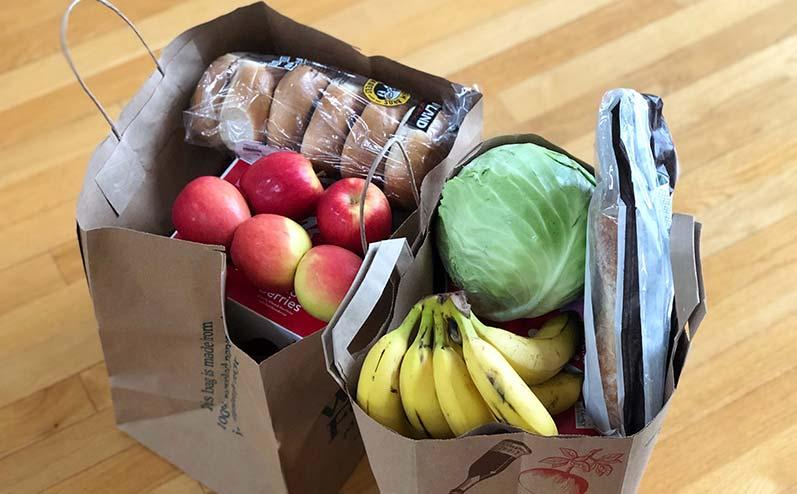 мешок с продуктами