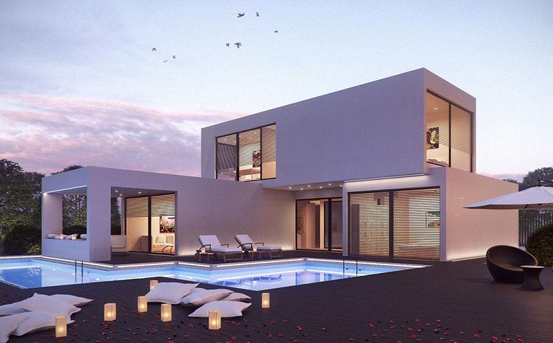 balta moduļu māja